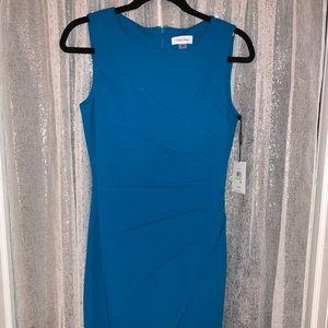 Starburst Sheath Dress  Blue